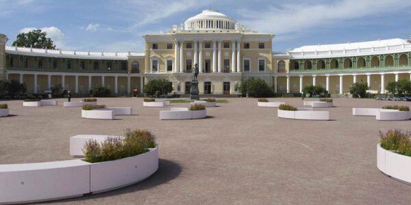 Bellitalia DEMETREA bænke i slotspark