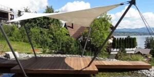 urban Elements Golle Helaarssejl overdaekket terrasse ved vandet